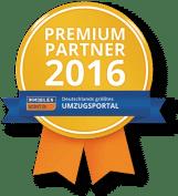 Auszeichnung ImmobilienScout24 Umzugsportal Premium Partner 2016