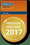 Auszeichnung ImmobilienScout 24 Umzugsportal Premium Partner 2017