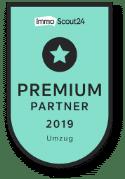 Auszeichnung ImmobilienScout 24 Umzugsportal Premium Partner 2019