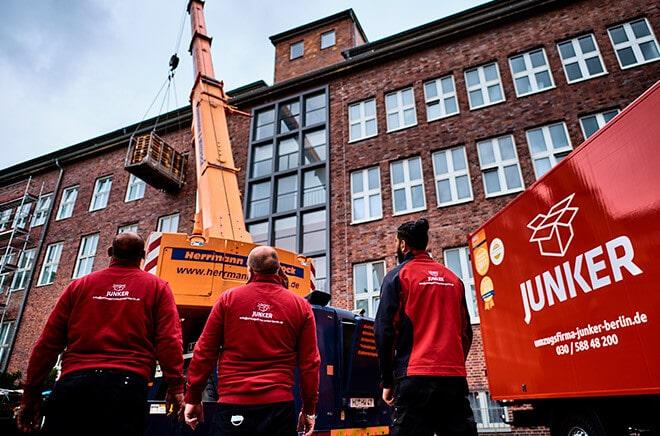 Ausstattung der Umzugsfirma Junker aus Berlin
