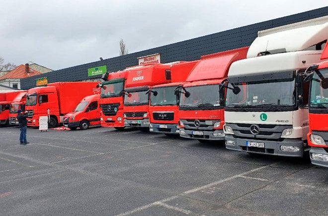 Fahrzeuge der Umzugsfirma Junker aus Berlin