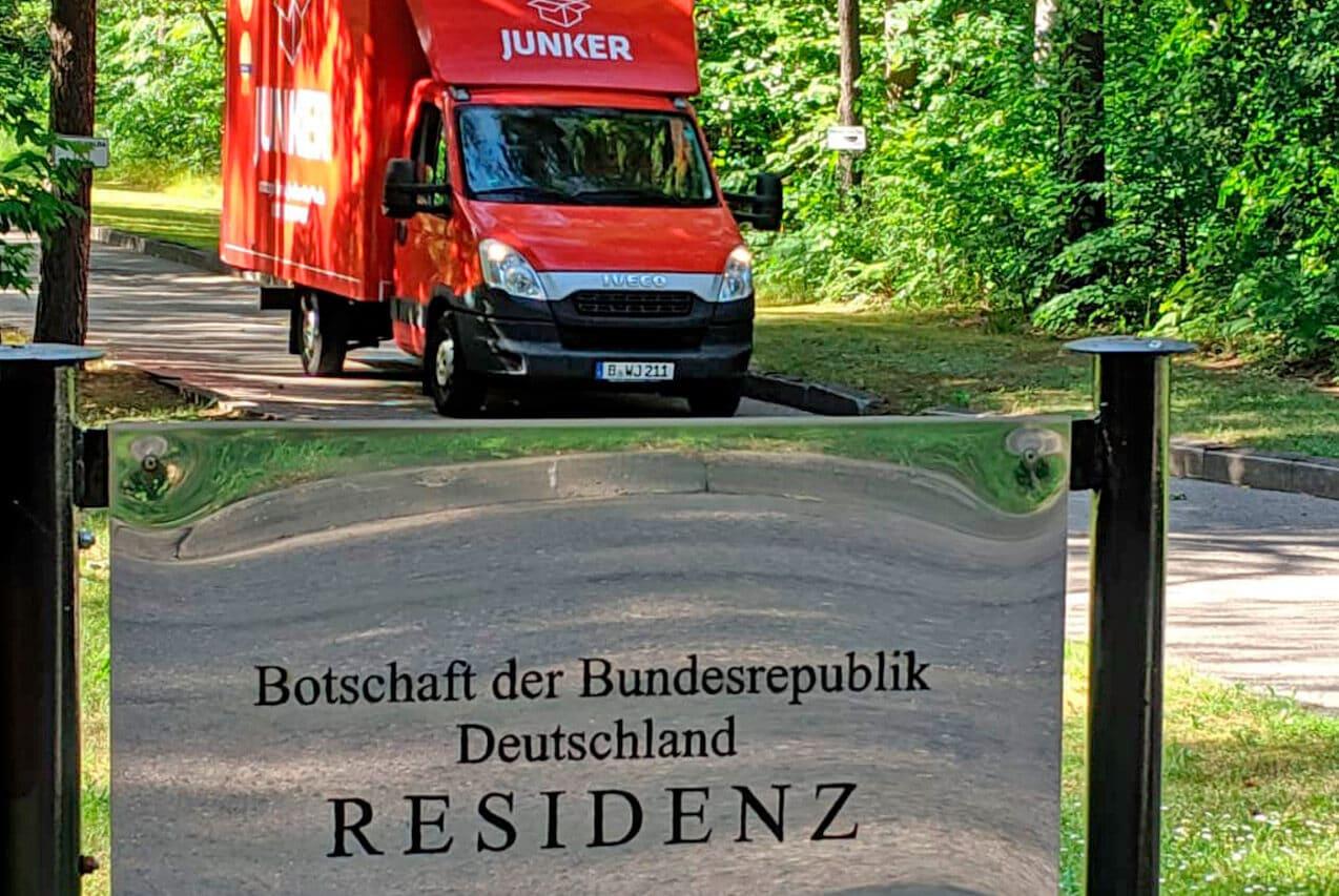 Junker Umzüge Berlin - Behördenumzug - Umzug-LKW unterwegs